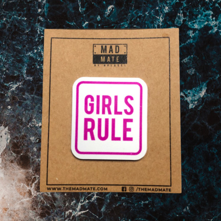 MM1161 GIRLS RULE Metal Pin