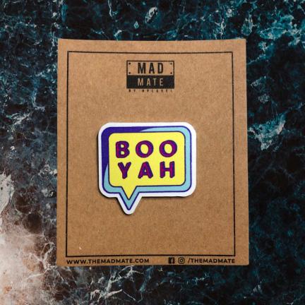 MM1164 BOO YAH Metal Pin