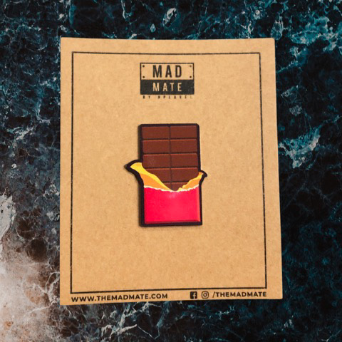 MM1210 Chocolate Metal Pin