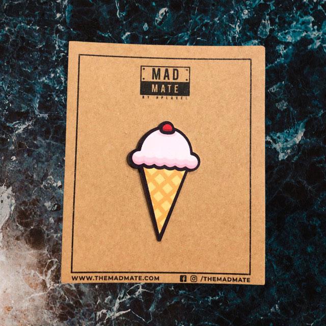 MM1215 Ice Cream Cone Metal Pin