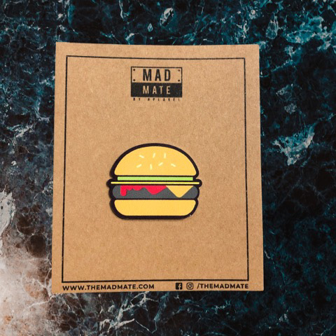MM1217 Burger Metal Pin